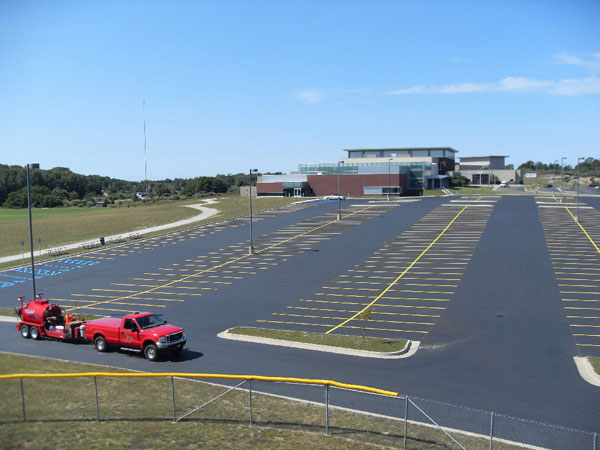 sealcoating and parking lot striping marking services in north western michigan mansitee county